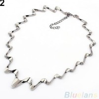 Harga kalung choker import korea mj fashion curly necklace kalung pesta | Pembandingharga.com