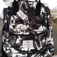 456b8a60a4 Tas Backpack London Berry By Huer Model Kotak Black Leaf