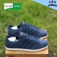 Sepatu Adidas Caflaire Navy Suede Original Sneakers Pria Wanita Keren