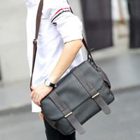 Tas Selempang Pria Korean Canvas Deangelo Messenger Bag Laptop FTS153