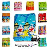 Selimut Lembut Anak Besar Kartun + tas blanket ( cocok u/ kado gift ) - 01 Doraemon1