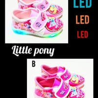 Hot Item Sepatu Anak Perempuan Led Little Pony