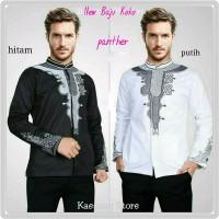 Baju Koko Panther Pria - Pakaian Muslim Cowok Warna Hitam Putih