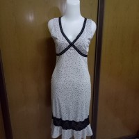 dress bodycon polkadot black lace