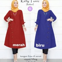 baju tunik murah/baju muslim wanita/atasan muslim/kelly tunic/gl68131