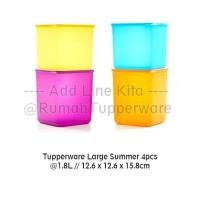 Jual Tupperware Large Summer Fresh New Color 2017 - 4pcs Murah