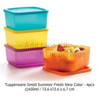 Jual Tupperware Small Summer Fresh New Color 2017 - 4pcs Murah
