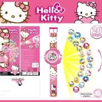 Jam tangan anak proyektor hello kitty pinkie pie pony princess sofia