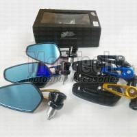 Kaca Spion Sepion Jalu Stang CNC Variasi Motor Mio M3 Xeon Soul GT 125
