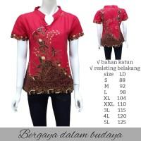 CHIONGSAM Blouse Batik-Atasan Batik Wanita-Kemeja Batik Wanita