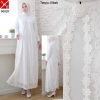 Baju Gamis Putih Gamis Pesta Baju Lebaran Busana Muslim Terbaru #90820
