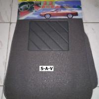 Karpet Cacing/Bihun Mobil Bahan Tipis Universal 2 Baris 5 Pcs
