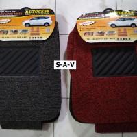 Karpet Cacing/Bihun Mobil Universal 3 Baris 4 Pcs New