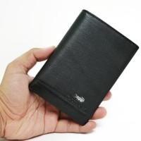 dompet kulit pria tanggung Crocodile C1201-4 black hitam