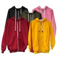 Jaket Sweater Polos Hoodie Zipper XXL - Premium Quality