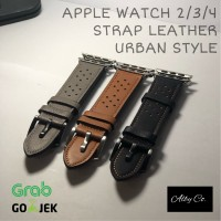 APPLE WATCH STRAP IWATCH 1/2/3/4 Leather strap kulit Urban style 40 44
