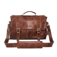 Messengger Leather Bag Lintang Havana Crack - Kenes leather