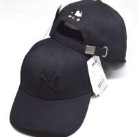 EXCLUSIVE BASEBALL HAT NY FULL BLACK PLATE MLB IMPORT f6f979c6d4