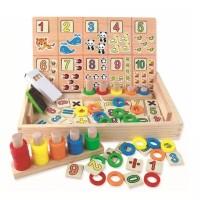 Mainan Edukasi Anak PUZZLE KAYU HITUNG DONUT NUMBER CRUNCHING WOODEN