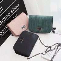 Fashion Chain PU Leather Sling Bag