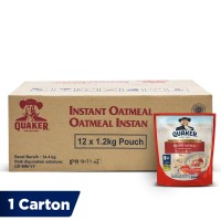 Quaker Instant Oatmeal Value Pack 1.2kg [1 Carton - 12 Pcs]