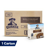 Quaker Instant Oatmeal Cokelat Box 4s [1 Carton - 24 Pcs]
