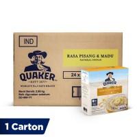 Quaker Instant Oatmeal Pisang & Madu Box 4s [1 Carton - 24 Pcs]