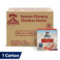 Quaker Instant Oatmeal Box 4s [1 Carton - 24 Pcs]