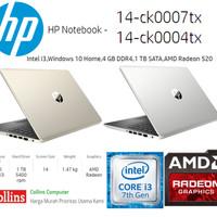 """HP 14-CK0004TX/14-CK0007TX - I3 7020U 4GB 1TB AMD 520 2GB 14"""" W10"""