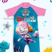 Baju Renang Bayi / Swimsuit Jumsuit Bayi Perempuan Anjing Skype Pink