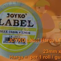 JOYKO LB-P2CY Label Sticker Stiker Harga 2 baris Cah-Cah Kuning 23x16