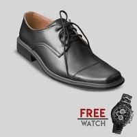 Sepatu Formal Pria S. Van Decka J-TK017 Free Jam Tangan