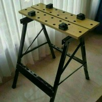 Krisbow Meja Kerja Workshop - Work Bench Meja Gergaji Potong Kayu