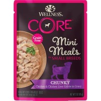Wellness CORE Small Breed Mini Meals Chunky Chicken + Liver Dog Food