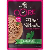 Wellness CORE Small Breed Mini Meals Shredded Chicken Lamb Dog Food
