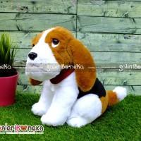Boneka Anjing Basset Hound Duduk ( HK - 626442 )