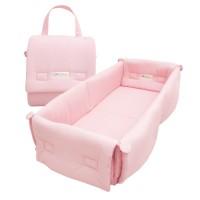 Dr.Bebe Foldable Bumper Bed - Pink Dot