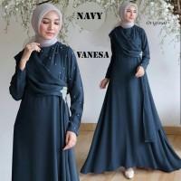 Maxi Vanesa/Maxi Full Mostcrepe HQ/Gamis Mutiara/Baju Pesta Muslimah