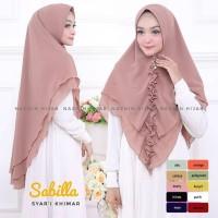 Hijab Jilbab Kerudung Khimar Sabilla Rempel Style Syari Instan