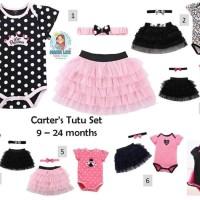 CARTER TUTU SET 3 IN 1 / 9-24M CARTERS / ROK TUTU / ROK BAYI / BAJU