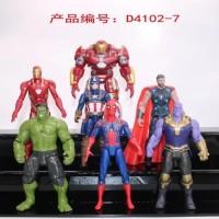 Action Figure Pajangan Marvel Avenger Ironman Spiderman Hulk Thor