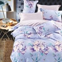 Bedcover Set Katun Jepang 200x200x25 Violet Rose