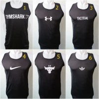Grosir Singlet Fitness Gym Shark UA Tactical Spandek Jala Murah