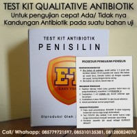 Test Kit Penisilin Antibiotic - Teskit Antibiotik utk Tes Uji Pangan