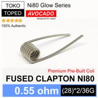 Authentic Avocado FUSED CLAPTON Ni80 Coil 0.55 ohm | nichrome 80 vape