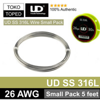 Authentic UD SS 316L Wire 26 AWG   Small Pack Edition 5 Feet Stainless