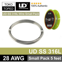 Authentic UD SS 316L Wire 28 AWG   Small Pack Edition 5 Feet Stainless