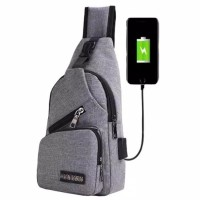Smart Backpack / Tas Selempang USB Port Charger