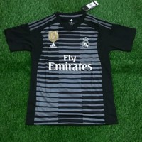 2a24f208756 Jersey Kaos Baju Bola Real Madrid GK Home Kiper 2018 2019 Grade Ori