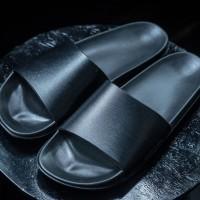 Sandal / Sandal Kulit / Jackwell Slides Black